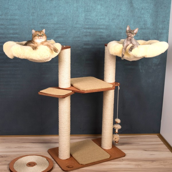 Lambskin Cat Tree Model Fanny