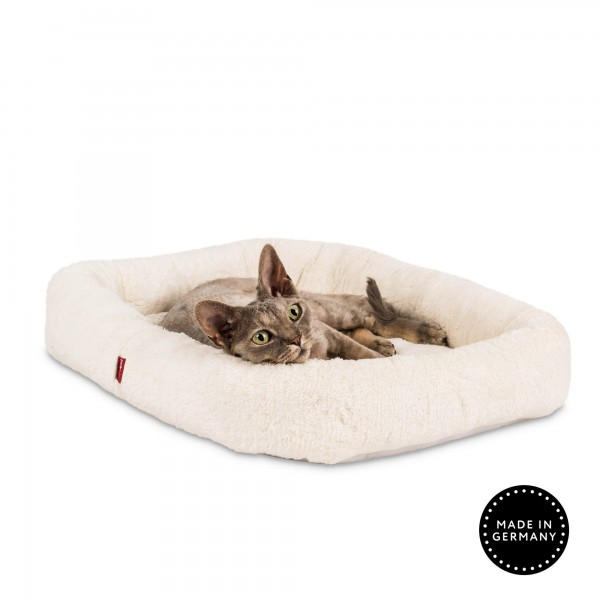 Cat bed rectangular with velcro bottom