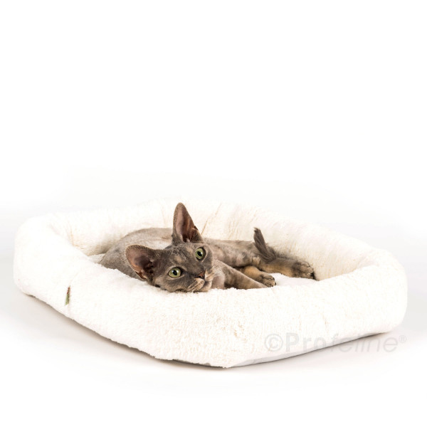 Cat bed rectangular with velcro bottom