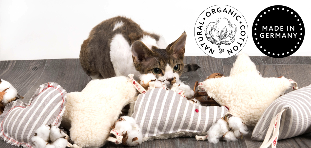 Organic Cotton Cat Toys - Handmade in Germany