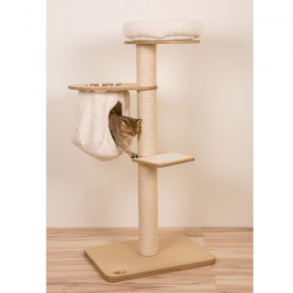 Wood Birch, velcro cushion, hanging cave natural