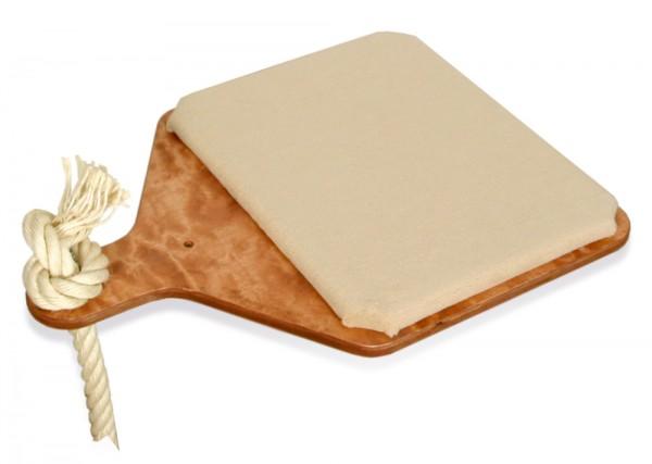Liegeebene mit Seil, Holzfarbe Kirsche, Bezug Teppich Sand