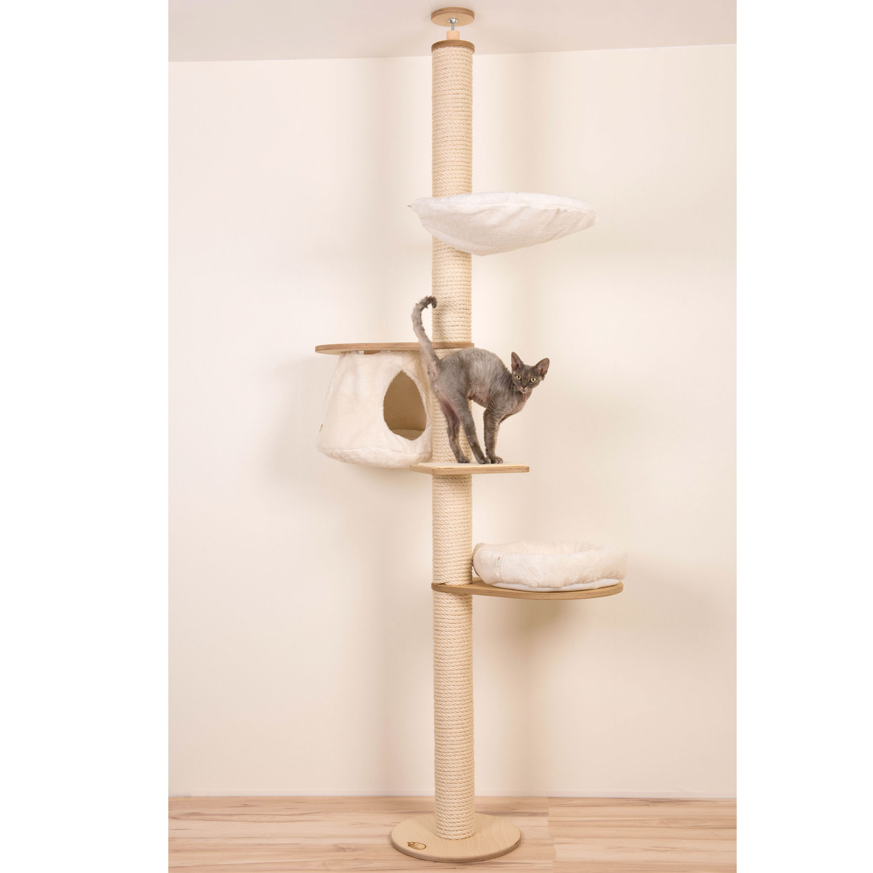 Ceiling High Cat Tree With Hanging Cave Profeline Cat