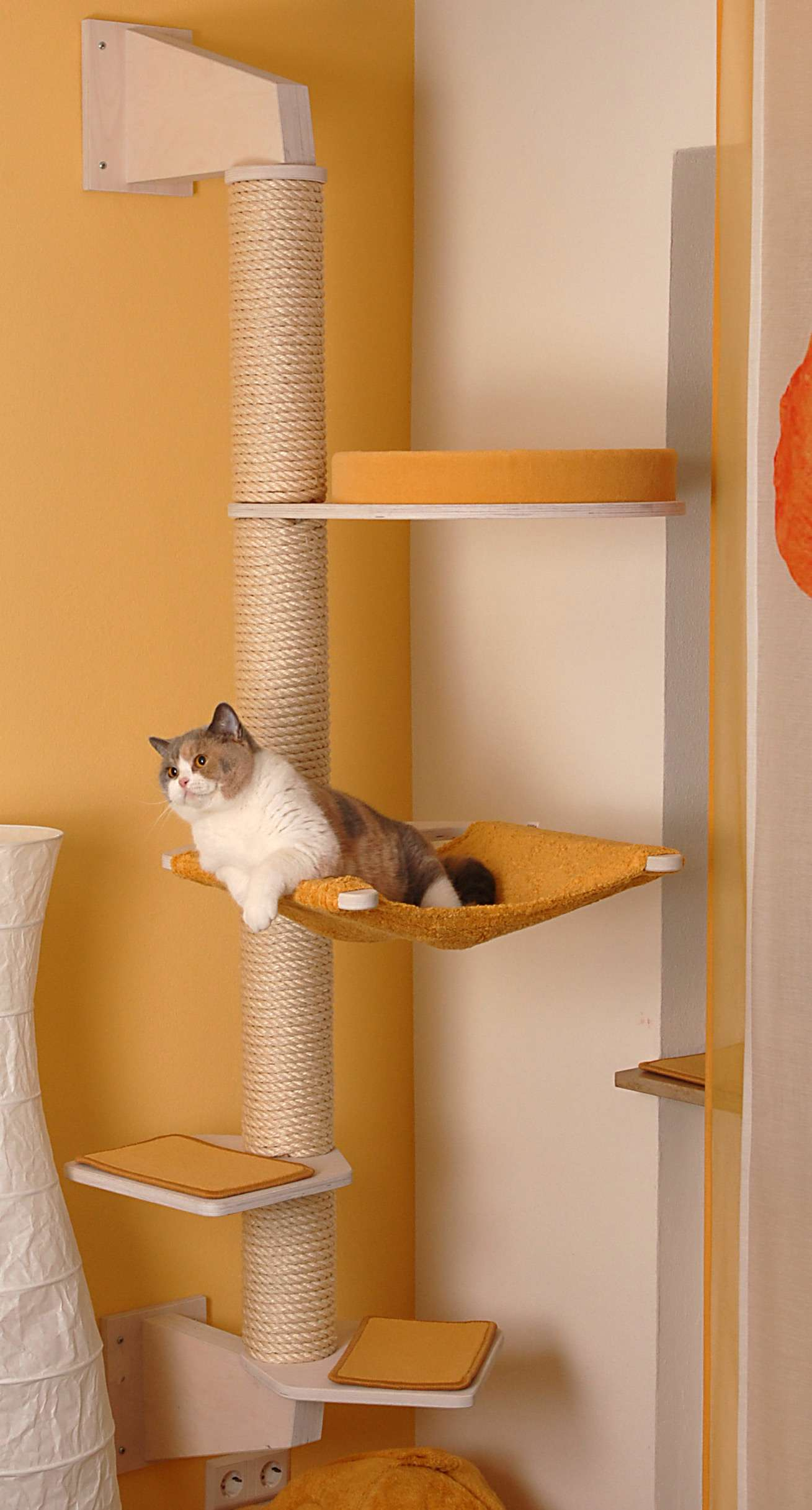 Wall Mounted Cat Tree Model Finn Made Of Solid Wood Profeline Cat Supplies